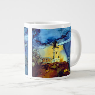 Split Rock Lighthouse At Night Jumbo Mug