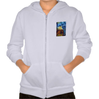 Split Rock Lighthouse At Night Hooded Pullover