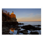 Split Rock Lighthouse at sunset near Two