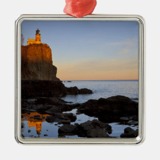 Split Rock Lighthouse at sunset near Two Christmas Ornament