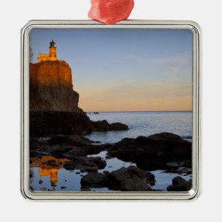 Split Rock Lighthouse at sunset near Two Christmas Ornament