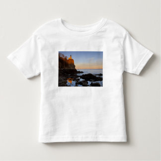 Split Rock Lighthouse at sunset near Two Toddler T-Shirt