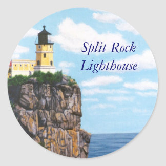 Split Rock Lighthouse Classic Round Sticker