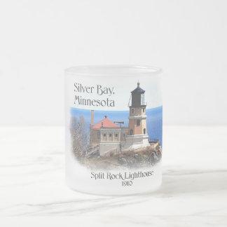Split Rock Lighthouse -Minnesota Frosted Glass Mug
