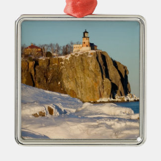 Split Rock Lighthouse State Park on Lake Christmas Ornament