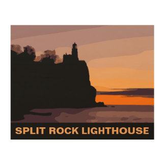 SPLIT ROCK LIGHTHOUSE WOOD WALL DECOR