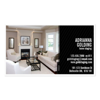 Split Staging with Photo - Black Pack Of Standard Business Cards