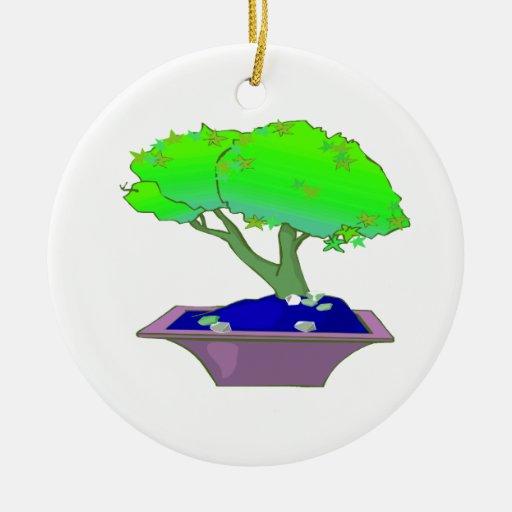 Split trunk bonsai in pot tree graphic.png christmas ornament