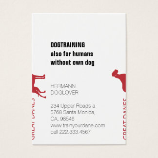 Splitted Great Danes Business Card