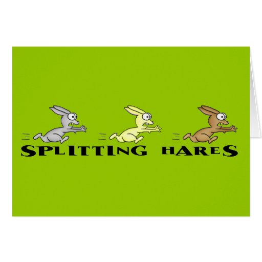 Splitting Hares Greeting Card