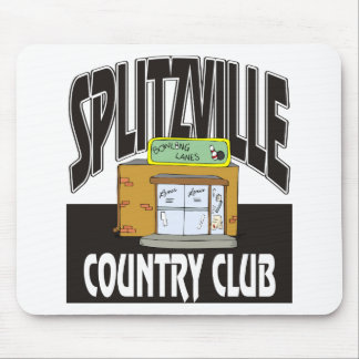 Splitzville Bowling Country Club Mouse Pad