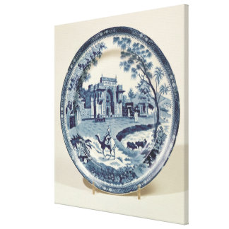 Spode blue and white plate, c.1815 canvas print