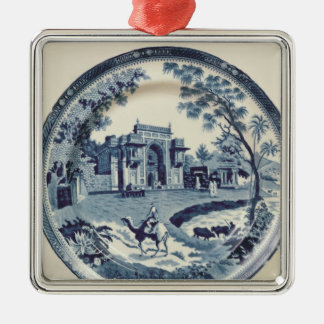 Spode blue and white plate, c.1815 christmas ornament