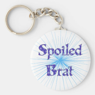 Spoiled Brat Basic Round Button Key Ring