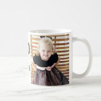 spoiled by grandma basic white mug