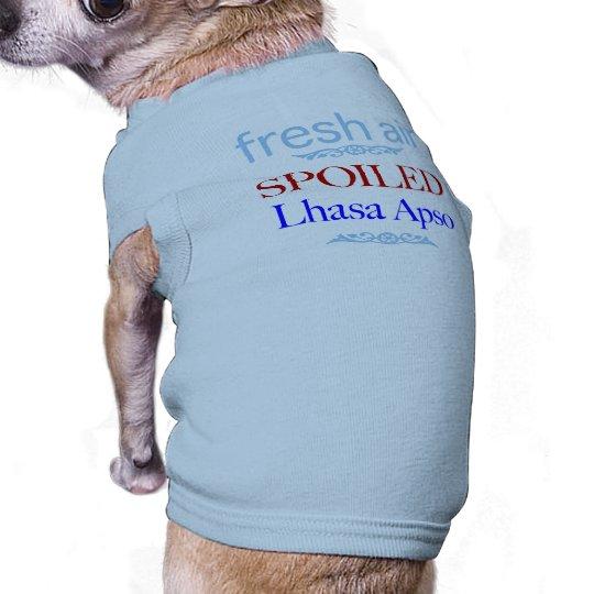 spoiled Lhasa Apso Sleeveless Dog Shirt