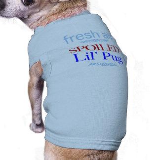 spoiled Pug Sleeveless Dog Shirt