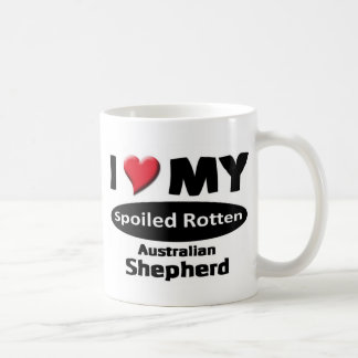 Spoiled Rotten Australian Shepherd Basic White Mug