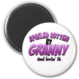 Spoiled Rotten by Granny Fridge Magnet