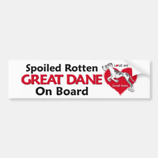 Spoiled Rotten Harlequin Dane UC Bumper Sticker