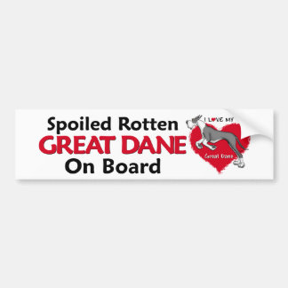 Spoiled Rotten Mantle Dane Bumper Sticker