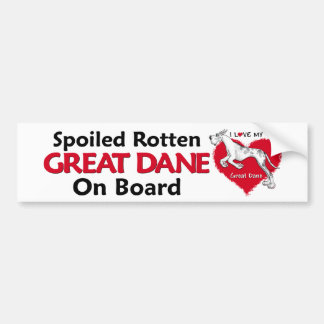 Spoiled Rotten Merlequin Dane Bumper Stickers