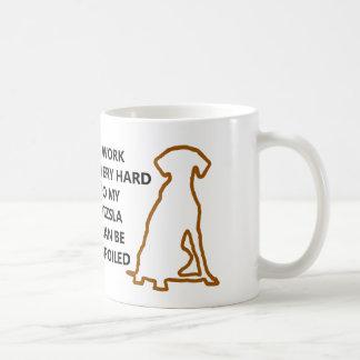 Spoiled Vizsla Basic White Mug