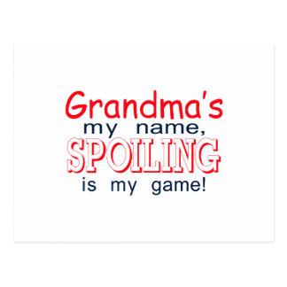 Spoiling Grandma Postcard