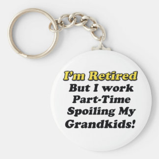 Spoiling My Grandkids Basic Round Button Key Ring