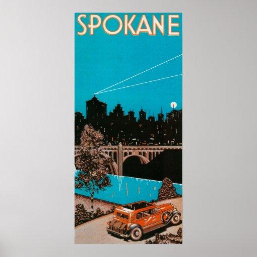 Spokane Advertising Poster #1Spokane, WA
