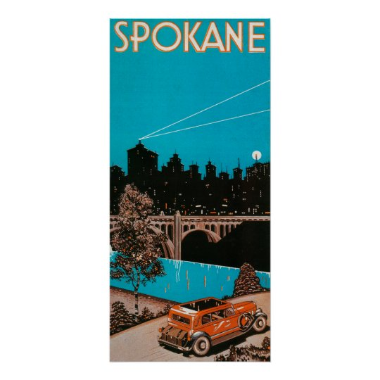 Spokane Advertising Poster #1Spokane, WA