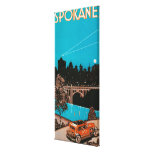 Spokane Advertising Poster #1Spokane, WA Gallery Wrapped Canvas