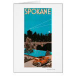 Spokane Advertising Poster #1Spokane, WA Greeting Card