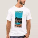 Spokane Advertising Poster #1Spokane, WA T-Shirt