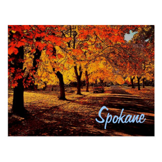 Spokane Autumn Postcard