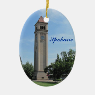 Spokane Clock Tower Riverfront Park Christmas Ornament