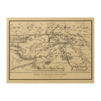 Spokane Country Wood Print