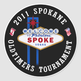 Spokane Oldtimers Puck Classic Round Sticker