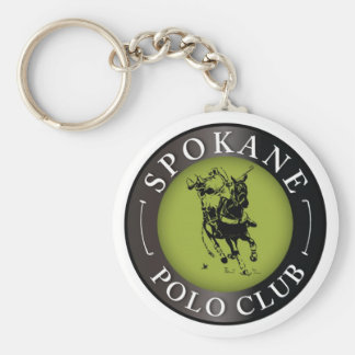 Spokane Polo Club Round Keychain