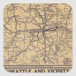 Spokane, Seattle Square Sticker