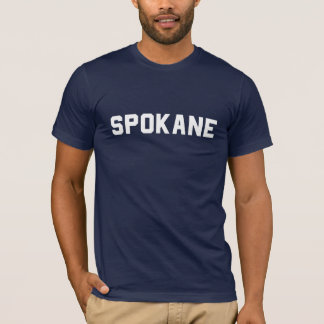 spokane tee: white on navy T-Shirt