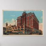 Spokane, WA - View of Davenport Hotel #1 Poster