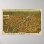 Spokane Washington 1905 Antique Panoramic Map Poster