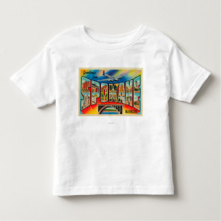 Spokane, Washington - Large Letter Scenes 3 Toddler T-Shirt
