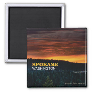 Spokane Washington Souvenir Photo Fridge Magnet