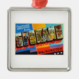 Spokane Washington WA Old Vintage Travel Souvenir Christmas Ornament