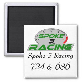 spoke 3 Final, tack, Spoke 3 Racing, 724, &, 686 Square Magnet