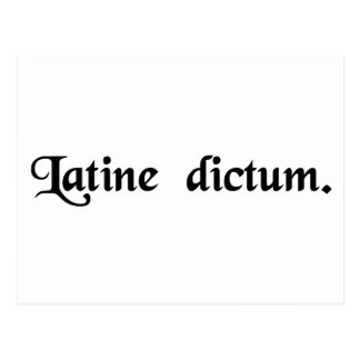 Spoken in Latin. Postcard