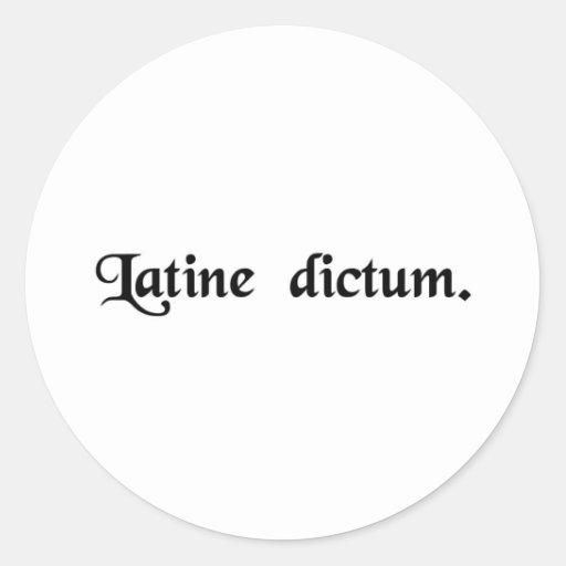 Spoken in Latin. Sticker