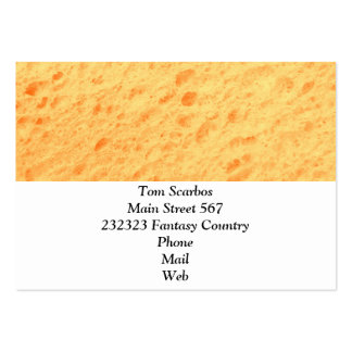 sponge,beige pack of chubby business cards